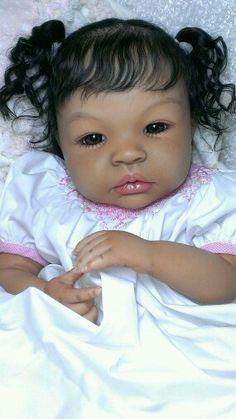 Custom Reborn Shyann Ethnic Biracial or Caucasian Baby Life Like Baby Dolls, Life Like Babies, Real Baby Dolls, Black Baby Dolls, Cute Baby Dolls, Baby Girl Dolls, Child Doll, Reborn Toddler, Reborn Baby Girl