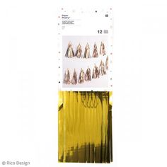 Kit guirnalda borlas - Dorado - 33 cm - 12 pcs - Fotografía n°1