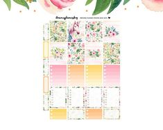 This printable sticker kit is for the Erin Condren Vertical Life Planner. These beauties are a perfect addition for a gorgeous planner spread every week! Planning an awesome week is right at your fingertips, just print them at home and cut them during your next netflix binge or use the FREE Silhouette Studio Cut Files included for a flawless experience :) Unique designs made with love that last all week, gorgeous crispy illustrations, high quality pdfs, free cut files for easy cutting and a ... Printable Planner Stickers, Printables, Planner Sheets, Free Silhouette, Silhouette Studio, Erin Condren, Life Planner, Kit, How To Plan