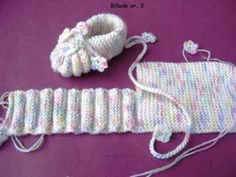 Knitted baby booties by Jonna Elvin The pattern comes from my mother . Knitted baby booties by Jonna Elvin The pattern comes from my mother size: months needle size 3 mm pos. Baby Knitting Patterns, Baby Booties Knitting Pattern, Crochet Baby Shoes, Crochet Baby Booties, Crochet Slippers, Knitting Socks, Baby Patterns, Crochet Patterns, Knitting Needles