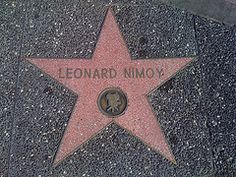 Leonard Nimoy Hollywood Walk of Fame star Star Trek Original Series, Star Trek Series, Star Wars, Star Trek Tos, Hollywood Walk Of Fame, Hollywood Stars, Star Trek Images, Starship Enterprise, Leonard Nimoy