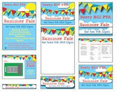 Summer Fair - Published PTA Templates and Poster Kits