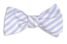 High Cotton | Wide Carolina Blue Stripe Bow Tie