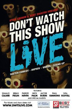 Postcard design by Artemus Reano for Don't Watch This Show LIVE!