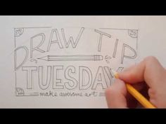 Welcome to Draw Tip Tuesday! Lets do some hand lettering today. Pick a quote or a phrase and...