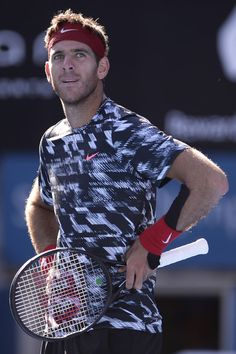 Juan Martin Del Potro Photos Photos - Juan Martin Del Potro of Argentina reacts after loosing a point in his quarter final match against Mikhail Kukushkin of Kazakhstan during day five of the Sydney International at Sydney Olympic Park Tennis Centre on January 15, 2015 in Sydney, Australia. - 2015 Sydney International: Day 5
