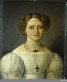 Portrett av Camilla Collett, født Wergeland Object type maleri (Name) Produksjon 1833 Produsent, antatt:Munch, Jacob