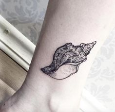 Conch Shell Tattoo by Sandra Cunha