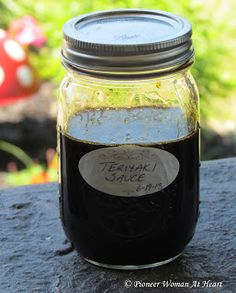 Homemade Teriyaki Sauce 1 cup soy sauce 1/4 cup pineapple juice 1/4 cup firmly packed brown sugar (dark) 1/4 cup honey 1/4 cup corn syrup (use one that does not contain high fructose corn syrup, can be light, medium or dark)  1 tablespoon grated peeled fresh ginger 3 cloves garlic, minced