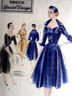 Vintage Vogue special design dress pattern by glassoffashion Vogue Dress Patterns, Vintage Vogue Patterns, Dress Making Patterns, Vogue Sewing Patterns, Clothing Patterns, Shorts Vintage, Vintage Outfits, Retro Outfits, Vintage Dresses