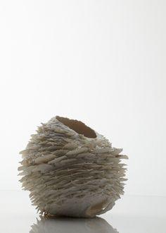 'Pinecone, Round Form', porcelain, 2008. Photographer: Sylvain Deleu. Copyright: Nuala O'Donovan.