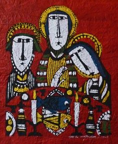 Sadao Watanabe--The Disciples with Jesus in Emmaus