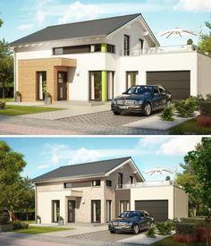 Holzhaus schneider von baufritz fertighaus mit for Modernes einfamilienhaus mit garage