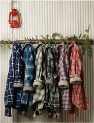 "oversized..*men's flannel plaids..for relaxing in your home..your space..just put on the ""fuzzy slipper's""..and relax after a busy day at work."