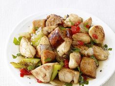 Chicken, Sausage and Peppers from FoodNetwork.com