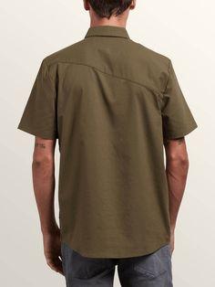 Volcom Everett Oxford Short Sleeve Shirt - Wrecked Indigo Xxl