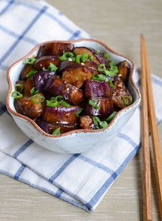 A few weeks ago I taught a Sichuan cooking class at ICE in Manhattan, and one of the many great recipes we did was a Sichuan eggplant recipe… Vegetable Recipes, Vegetarian Recipes, Cooking Recipes, Healthy Recipes, Easy Recipes, Sichuan Eggplant Recipe, Spicy Eggplant, Chinese Eggplant Recipes, Cooking Eggplant