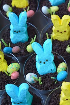 Made from layers of Oreo cookies and pudding and topped with a PEEPS Bunny, jelly beans, and edible grass, these Easter Bunny Dirt Cups are sure to be a hit with the kids. Dirt cups have been a long time favorite in our family, not just with the kids, but the adults as well. We make …