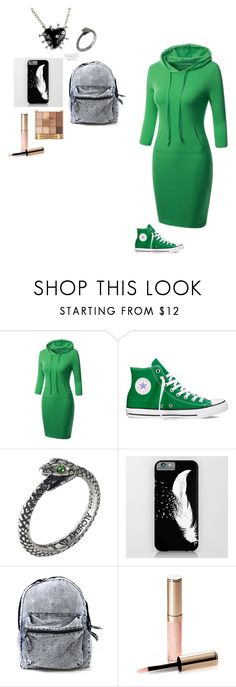 """""""The devil's a part timer OC part 2 (long over due)"""" by creepy-weird-chick ❤ liked on Polyvore featuring Converse and By Terry"""