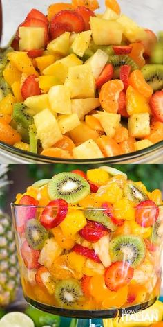 Best Ever Tropical Fruit Salad - Best Ever Tropical Fruit Salad is the only recipe you'll ever need. My entire picky family devour - Healthy Fruits, Healthy Snacks, Healthy Recipes, Fruit Snacks, Health Food Recipes, Fruit Party, Tropical Fruit Salad, Tropical Party Foods, Plats Healthy