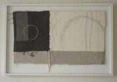 Gizella K Warburton 'echo' textile, stitch, mixed media