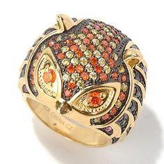 Neda Behnam for Brilliante® Gold Embraced™ 2.72 DEW Multi Color Owl Ring