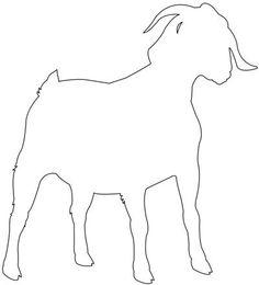 boer goat outline clipart panda