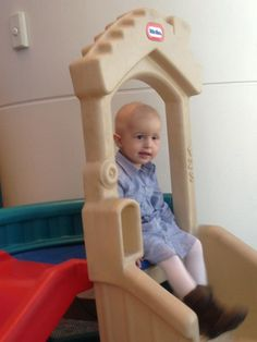 Playing at Texas Children's Hospital, waiting to have chemo. #saveraelyn #childhoodcancer #cancer