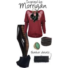 Morrigan inspired outfit by ladysnip3r