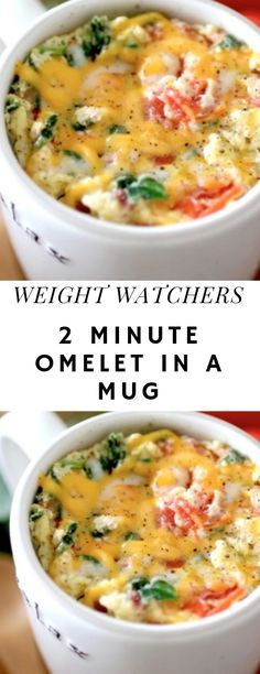2 MINUTE OMELET IN A MUG come with 7 weight watchers smart points Recipes diet weight watchers omelet in a mug Weight Watchers Meal Plans, Weight Watchers Snacks, Weight Watchers Smart Points, Weight Watchers Breakfast, Mug Recipes, Low Carb Recipes, Cooking Recipes, Healthy Recipes, Casserole Recipes