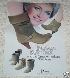 Barbara Mandrell boots at Kinney's - who remembers?  I just saw a pair of UGGs that totally took me back to my childhood!