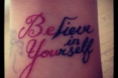 What does believe tattoo mean? We have believe tattoo ideas, designs, symbolism and we explain the meaning behind the tattoo. Love Wrist Tattoo, Wrist Tattoos Girls, Meaningful Wrist Tattoos, Get A Tattoo, Wörter Tattoos, Word Tattoos, Tatoos, Tattoo Life, Piercing Tattoo