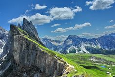 """Val Gardena, Italy ~ one of five valleys in the Dolomite mountains, in far northeastern Italy (south of Austrian alps)...""""best known (for) skiing, rock climbing and woodcarving,"""" where the Gardenese language is spoken. ~ (by Gianfranco Goria)"""