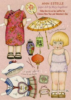 Chinese New Year Paper Doll Sheet
