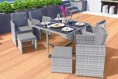 instead of for a nine-piece cube rattan furniture set - choose black, grey or brown and save