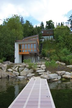 Guest House on a Lake Modern Home in Mercer Island, Washington by… on Dwell