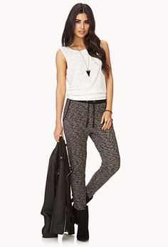 I have sweatpants exactly like them! Im going to rock those like that :)