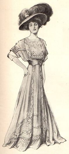 1907 gown. The Midvale Cottage Post: Miss Lillian's Postcards from the 1900s - Vintage Tweets from Los Angeles, California