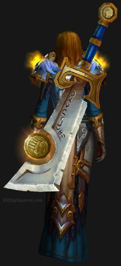 The Ashbringer sheathed onto a character. Shows what it looks like whilst it is idle.