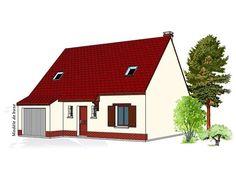 Modèle PC-39  Pavillon avec garage comprenant cuisine ouverte sur le séjour, hall, WC et 1 bureau au rez-de-chaussée. 3 chambres, salle de bains à l'étage.  Surface Habitable : 100,35m²