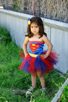 Supergirl tutu outfit Inspired by Marvel Superheroes Collection -- You Go Girl!