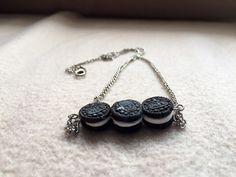 Mini oreo necklace/Mothers day special by NefertitiHandmade