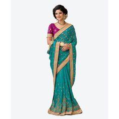 Buy Aarti Designer Saree Blue Shimmer Saree by undefined, on Paytm, Price: Rs.5199?utm_medium=pintrest