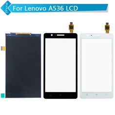 For Lenovo A536 LCD Display + Touch Screen Digitizer black white