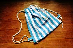 www.facebook.com/jeromins.factory #handmade #backpacks #homemade #rękodzieło #DIY #krawiectwo #sewing #stripes #blue #white #summer #beach