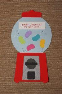 Jumpin' jellybean birthday party invitations!