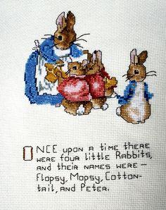 Cute Beatrix Potter cross stitch