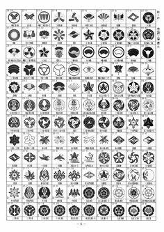 「我が家の家紋」(3720種類)P5:お~か・扇(地紙)・沢潟・唐花・瓜