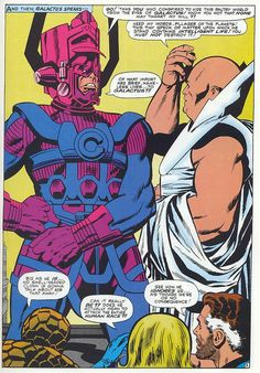 Fantastic Four 49 Galactus meets Watcher by Kirby 1966 by giantsizegeek, via Flickr