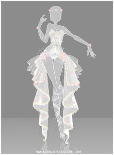 wedding dress anime style